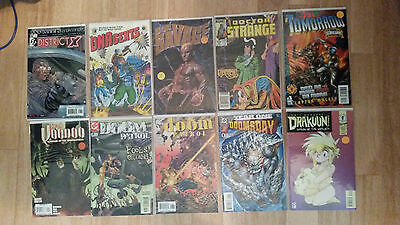 comic book lot district x, dnagents, doc savage, doctor strange, doctor tomorrow