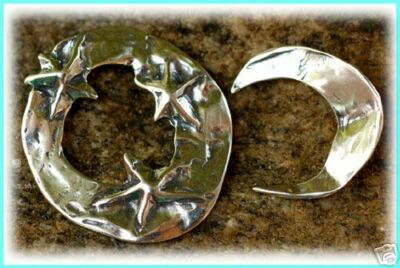 Organic Sterling Silver Moon & Stars Toggle Clasp