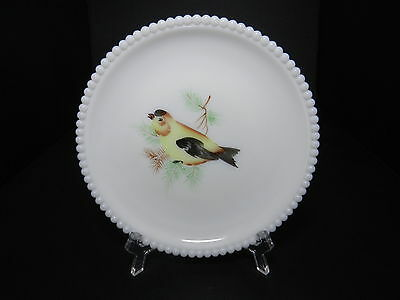 "Westmoreland Beaded Edge Plate Goldfinch Bird 7 3/8"" D ca 1953-1985"