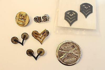 Vintage U.S. Army Pin Lot Collection Insignia Infantry Militaria Rare Enlisted