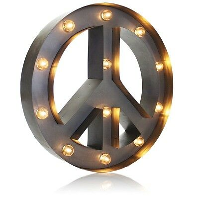 Vintage Peace Marquee Light Lamp Table Wall Art
