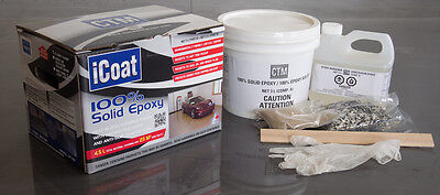 100% Solid Epoxy Concrete Coating - Easy to Use Protection for Your Garage Floor