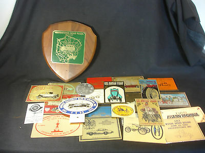 Old Vtg Collectible Antique & Classic Car Advertising Plate Plaque LOT