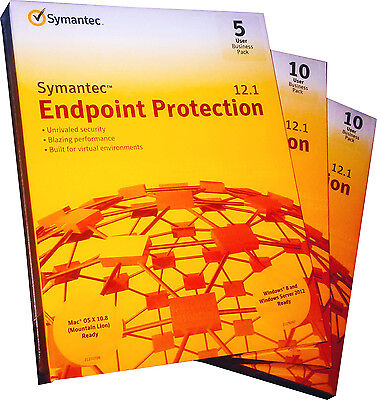 Symantec Endpoint Protection 12.1 Business Pack 25-User Windows & Mac Retail!!