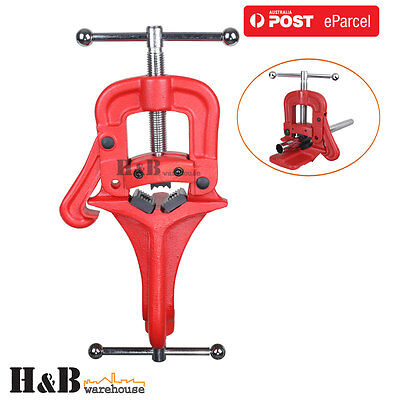 60mm Heavy Duty Portable Hinged Side Pipe Vice Vise Clamp Cast Iron Body T0237