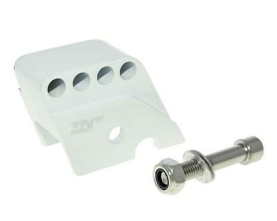Riser Kit CNC 4-Hole White - Piaggio-NRG 50 Power DT AC 05-06 ZAPC453
