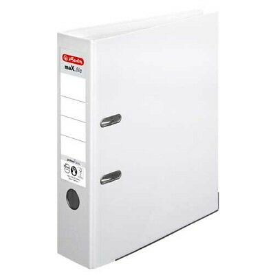 Herlitz Ordner Max.file Protect Voll Pp Color A4 8 Cm Breit Weiss Neu
