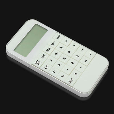 Vogue 10 Digits Display Battery Pocket Electronic Calculating Calculator White