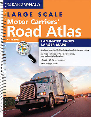 Rand McNally Large Scale Motor Carriers Truckers Road Atlas with Laminated Pages