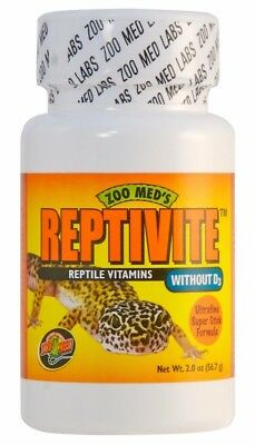 Zoo Med Reptivite without D3 Reptile Vitamins & Calcium Powder 2oz