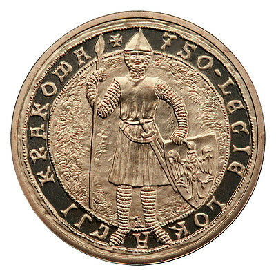 2007 COIN OF POLAND NORDIC GOLD2zl-THE 750th ANN. OF THE INCORPORATION of CRACOW