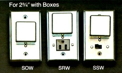 """BUSSMANN Box Cover Unit SOW for Plug Fuses 2.75"""" Switch 15A125V NOS New OldStock"""