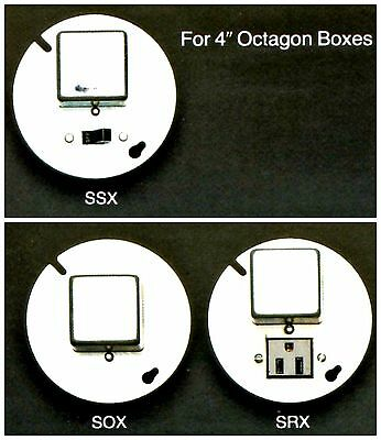 """BUSSMANN Box Cover Unit SOX for Plug Fuses 4"""" Octagon 15A 125V NOS New Old Stock"""