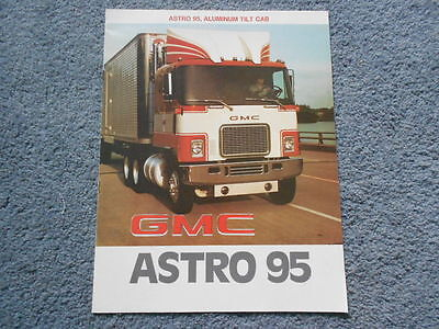 1977 Gmc Astro 95 Heavy-Duty Commercial Truck Dealer Sales Brochure Original Oem
