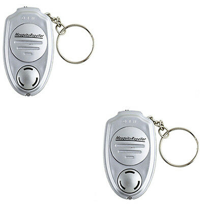 2 x Electronic Ultrasonic Sound Pest Insect Mosquito Repeller Control W/Keychain