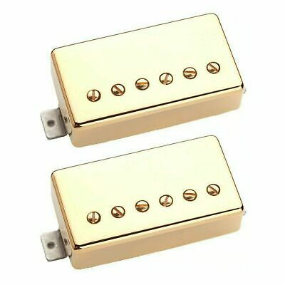 Raw Vintage Pickups HUMBUCKER SET RV-5760 - Gold Covers - PAF Tone!