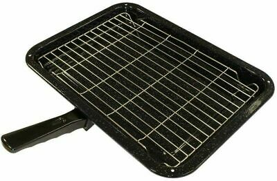 Universal Oven Cooker Grill Pan Set (380mm x 280mm) fits Belling Cannon etc.