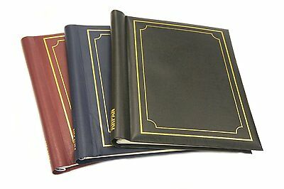 Deluxe 3 Self Adhesive Large Photo Albums Totaling 60 Pages 120/Sides -AB -SM120