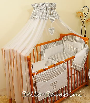 LUXURY CANOPY DRAPE & Holder - 480 x175cm for BABY Cot/Cot Bed