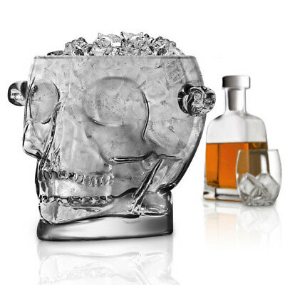 Brain freeze Skull Ice Bucket Wine Cooler / Chiller by Final Touch Brainfreeze