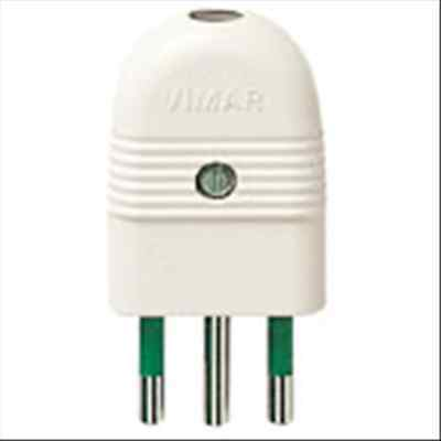 Vimar 01021.B Spina 2P+T 10A Assiale Bianco