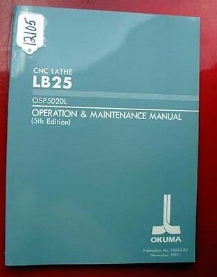 Okuma LB25 CNC Lathe Operation & Maintenance Manual (Inv.12105)