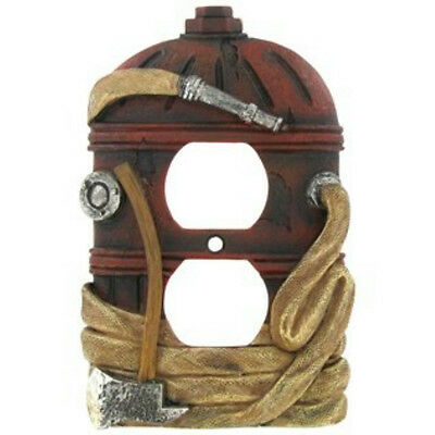 Beautiful Firefighter Fire 3-d Household Outlet Cover