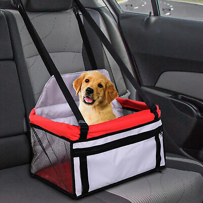PawHut Dog Cat Puppy Pet Car Seat Safety Travel Carrier Bag Tote Soft Kennel