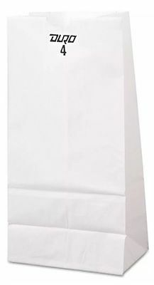 #4 White Kraft Paper Merchandise / Grocery / Lunch Bags 500 ct |NO SALES TAX|