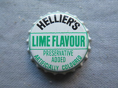CROWN SEAL BOTTLE CAP HELLIERS LIME FLAVOUR NSW or QLD AUSTRALIA UNUSED