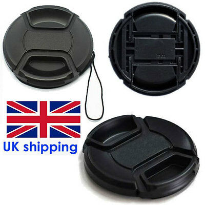 New UK 52mm Center Pinch Front Lens Cap Cover For Nicon Canon Sony DSLR Camera