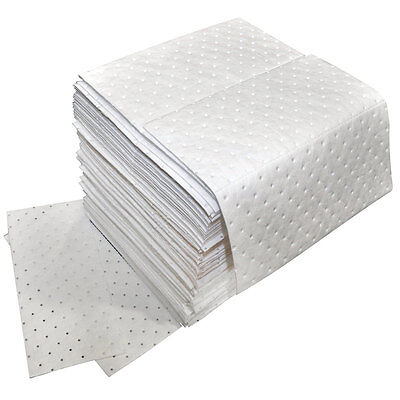 Oil Only Absorbent Pads Medium Weight, 100 Per Pack - Free Shipping!