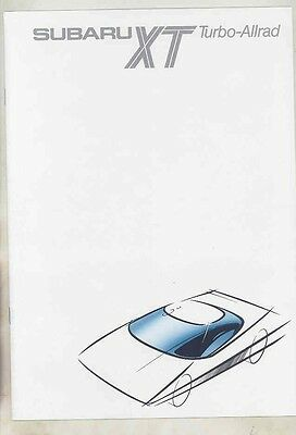 1986 Subaru XT Turbo Allrad Brochure German wv2037