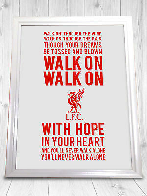 Liverpool FC ~ Never Walk Alone ~ Celtic Woman Lyrics Print A4 Poster Gift