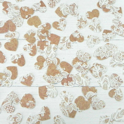 Rustic Lace Pattern - Heart Table Confetti
