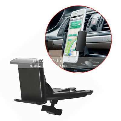 New Rotatable Car Auto Dash CD Slot Mount Holder Dock for GPS Cell Phone IPhone