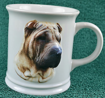 Shar-Pei raised image coffee mug, 3D xpres best friend original 1999, B. Augello