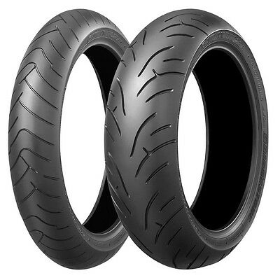 Bridgestone BT023 Front & Rear Tyres 120/70ZR17 & 180/55ZR17 Motorcycle Tyre