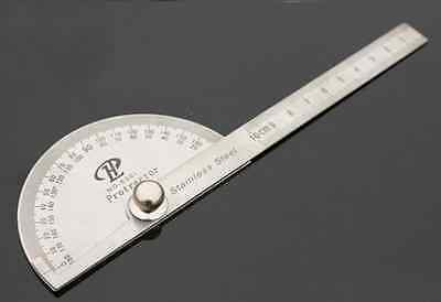 Stainless Protractor Angle Finder Craftsman Rule Ruler Machinist Tool 0-100MM PS