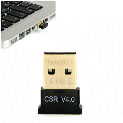 Mini Bluetooth V4.0 Sans Fil Dongle Adaptateur Pour Laptop PC Ordinateur Cle USB