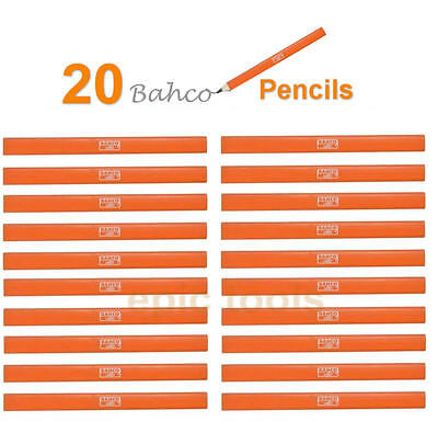 20 X BAHCO P-HB Medium Carpenters Carpentry Joiners Builders Flat HB Pencils
