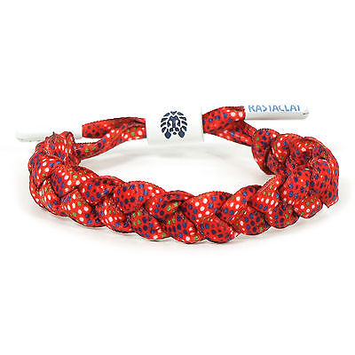 RASTACLAT Hirst Red With Multi-Color Dot Pattern Shoelace Wristband Bracelet NEW