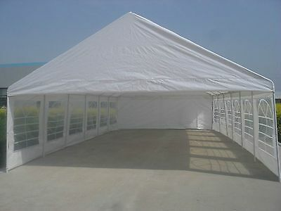 20x40 White Party Tent fully enclosed with windows