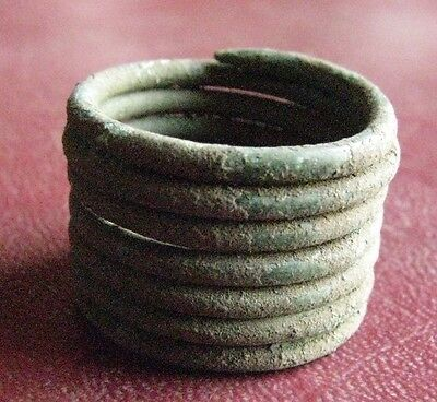 Ancient Latvian VIKING Artifact   BRONZE RING 9 1/2 US, 19.25mm 12988