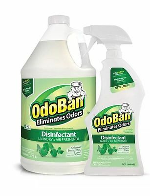 OdoBan Odor Disinfectant Eucalyptus 1 Gallon Concentrate & 32 oz. Ready-to-Use