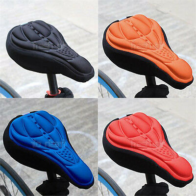 3D GEL Silicone Bike Bicycle Extra Comfort Saddle Seat Pad Cushion Cover New UK