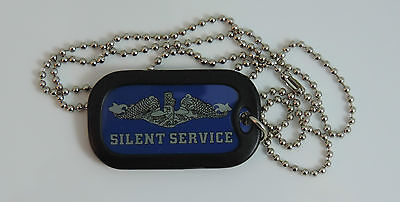 Enlisted Silent Service Submarine Dog Tag with Silencer