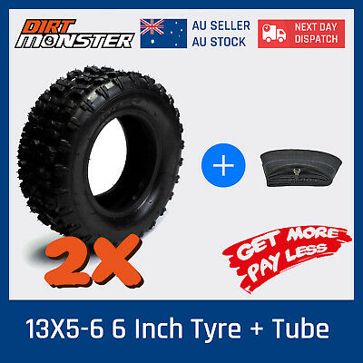 "2 of 13x5.00 - 6"" inch Tyre Tire + TUBE ATV QUAD Bike Gokart Scooter Buggy Mower"