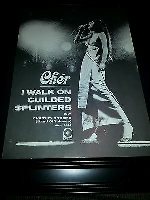 Cher I Walk On Guilded Splinters ATCO Rare Original Promo Poster Ad Framed!