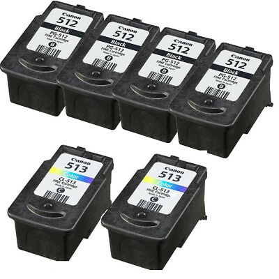 Refilled Ink Cartridge for 2x Canon PG 512 Black CL 513 Color for PIXMA MP240 AU